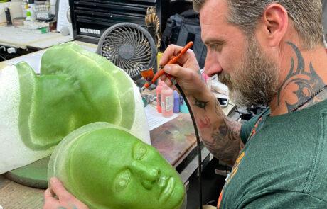 Airbrushing show prop